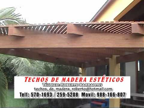 Techos de madera tri ngulo lima per youtube for Techos de madera economicos