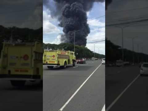 Big fire at Yokohama Clark base
