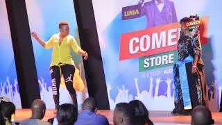 Alex Muhangi Comedy Store Dec 2018 Ssenga Justine Nantume