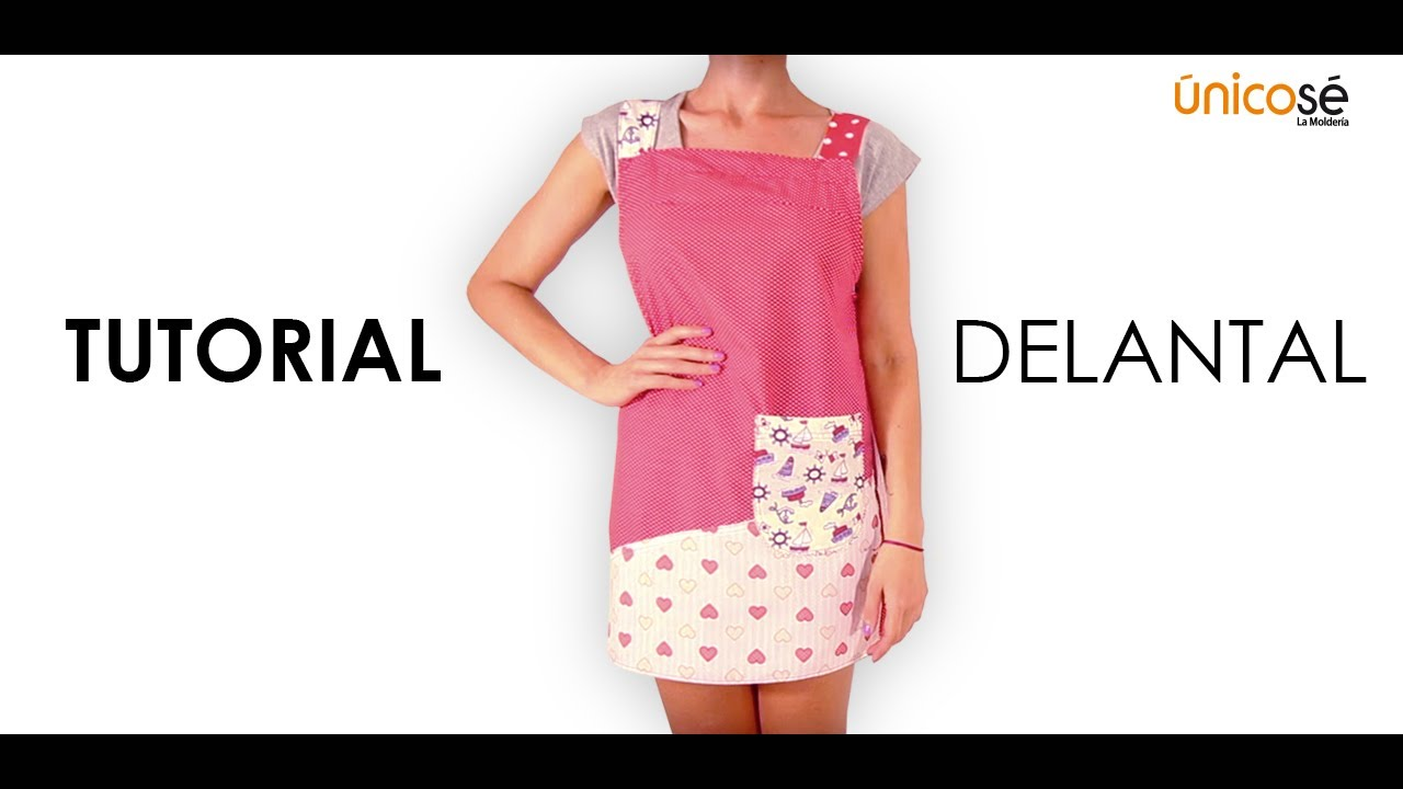 DIY Costura Delantal - YouTube
