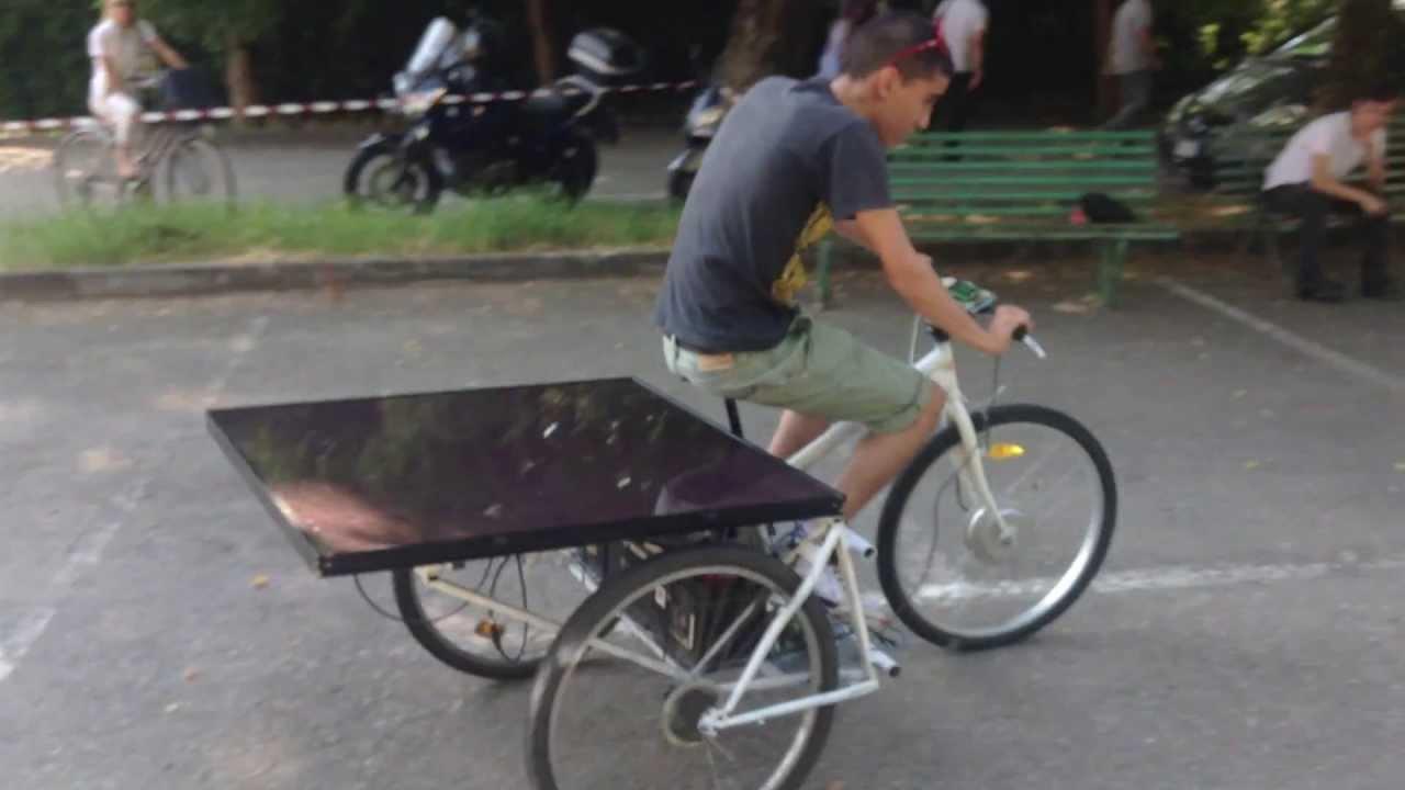 Pannello Solare Bici : Bici solare youtube