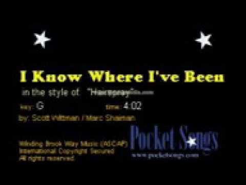 I know where I've been hairspray karaoke