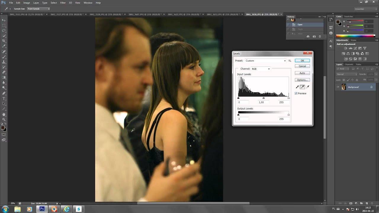 How to set white balance on jpg files in photoshop cs6 cs5 cs4 how to set white balance on jpg files in photoshop cs6 cs5 cs4 using levels short tutorial youtube baditri Choice Image
