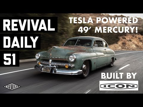 "Vintage Mercury Tesla-Powered Icon ""Derelict"" Hot Rod at SEMA! // Revival Daily 51"