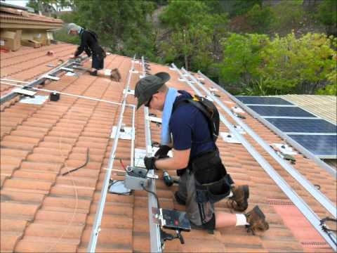 Enphase M215 Ironridge Xrs Solar Install Youtube