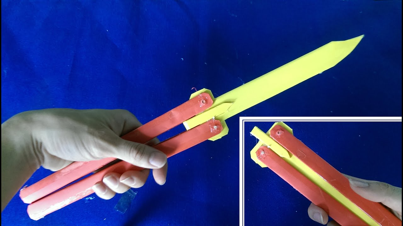 Comment faire un couteau papillon papier balisong youtube - Comment affuter un couteau ...