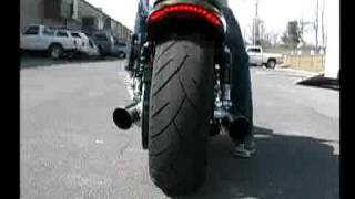 2009 harley davidson v rod muscle vrscf and 2005 harley sportster exhaust pipes by tab performance