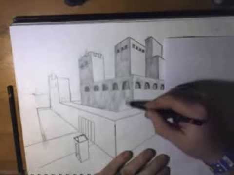 Two Point Linear Perspective Castle Youtube