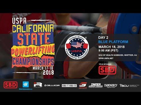 USPA California State Powerlifting Championships | Day 2 – Blue Platform