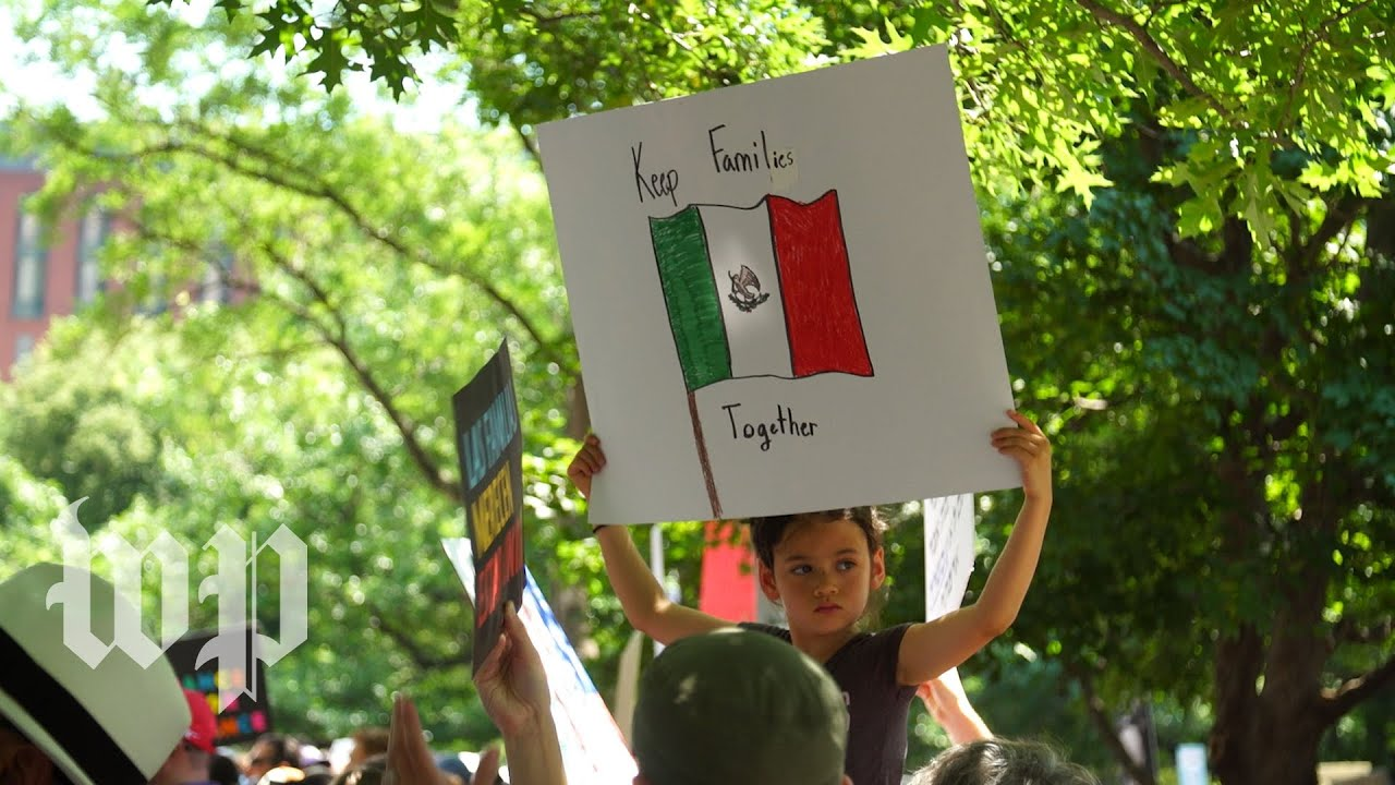 'I want my family together': Thousands rally in D.C. to protest of U.S. immigration policy