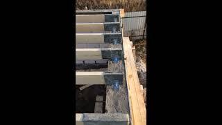 Лаги на шестиметровый пролёт под основание пола второго этажа.