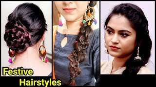 SuperEasy Festive Hairstyles+Hair Care Tips//Quick Hairstyles for Long Hair