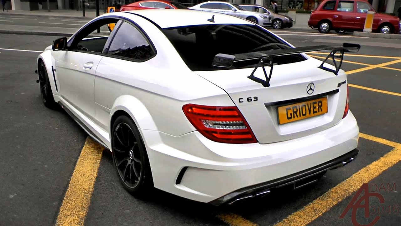 mercedes c63 amg black series revs and sounds in london. Black Bedroom Furniture Sets. Home Design Ideas