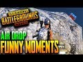PUBG MOBILE FUNNY MOMENTS AIR DROP CHALLENGE ft BunnY