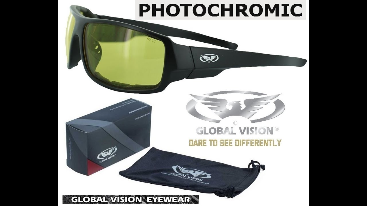 9f5949c6b8b Защитные очки с фотохромными линзами Global Vision Italiano-PLUS 24 YT -  YouTube