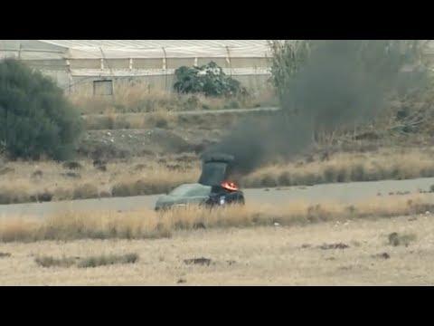 Lamborghini UGR Twin Turbo  on fire