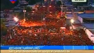 01 Oct 2012 Hugo Chávez en San Carlos, Cojedes