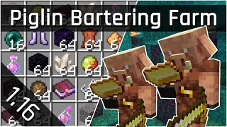 Simple Piglin Bartering Farm Tutorial | Minecraft Java 1.16 (The Nether Update)
