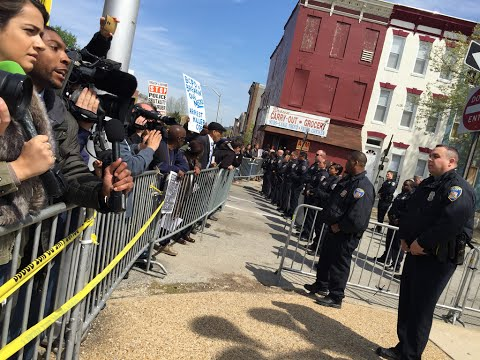 Freddie Gray Protest LIVE in Baltimore