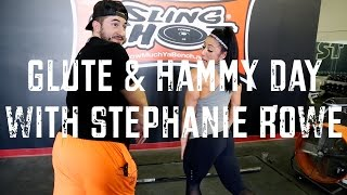 Bodybuilding Workouts - Glutes & Hammies with Stephanie Rowe and Silent Mike