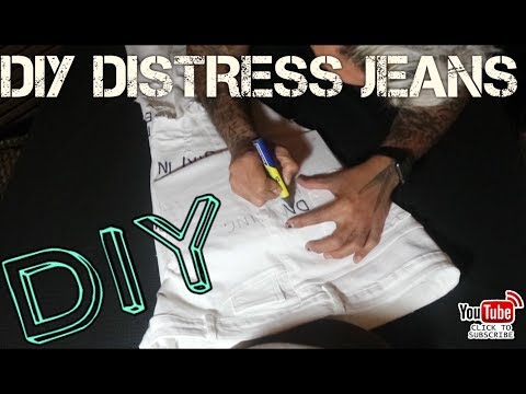 HOW TO DIY DISTRESS WHITE JEANS 👖 (Vlog 37.)