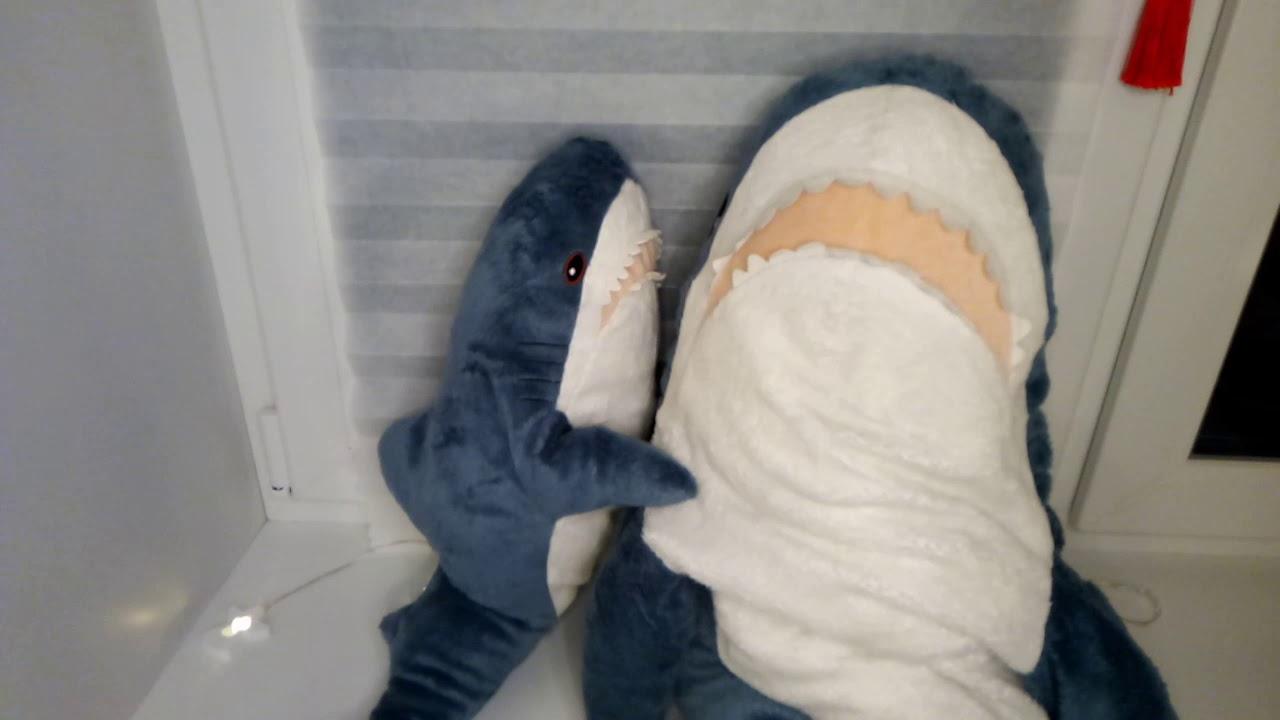 Акула из икеи/Сравнение большой и маленькой акулы из икей ...
