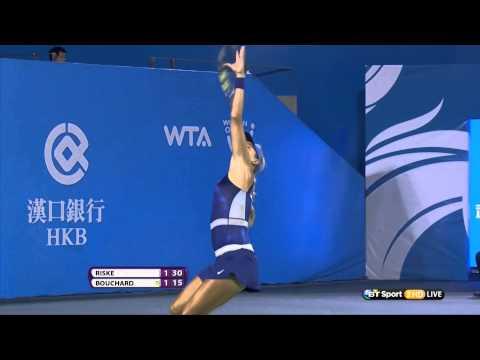 Eugenie Bouchard Very Sweaty WTA HD 24 09 14