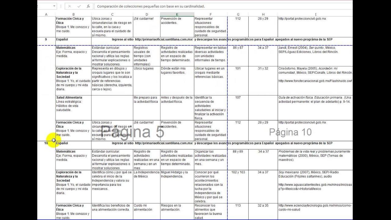 AVANCES PROGRAMATICOS DE PRIMARIA 2014-2015 TODOS LOS GRADOS Y BLOQUES
