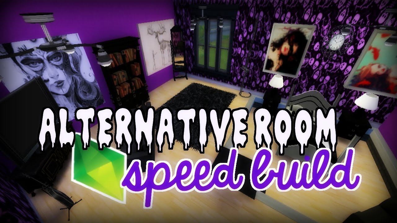 Goth Rooms the sims 4 | speed build: alternative/goth room | collab with