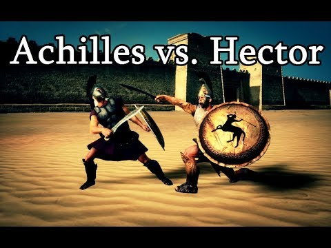 achilles vs hector cinematic rome 2 total war youtube