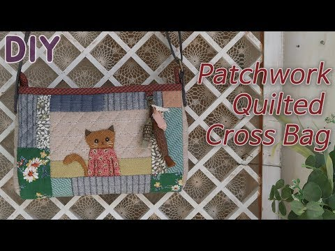 고양이 아플리케 퀼트가방 만들기 │ Quilted Patchwork Cross Bag │ How To  Make DIY Crafts Tutorial