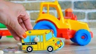 Машинки и Транспорт. Паззлы для Детей. Развивающее видео малышей