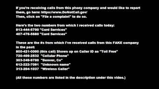 card services at it again b tch credit card scam 8 7 12