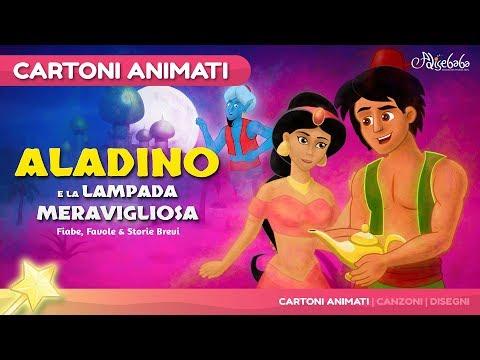 Aladino e la lampada meravigliosa storie per bambini - Cartoni Animati - Fiabe e Favole per Bambini