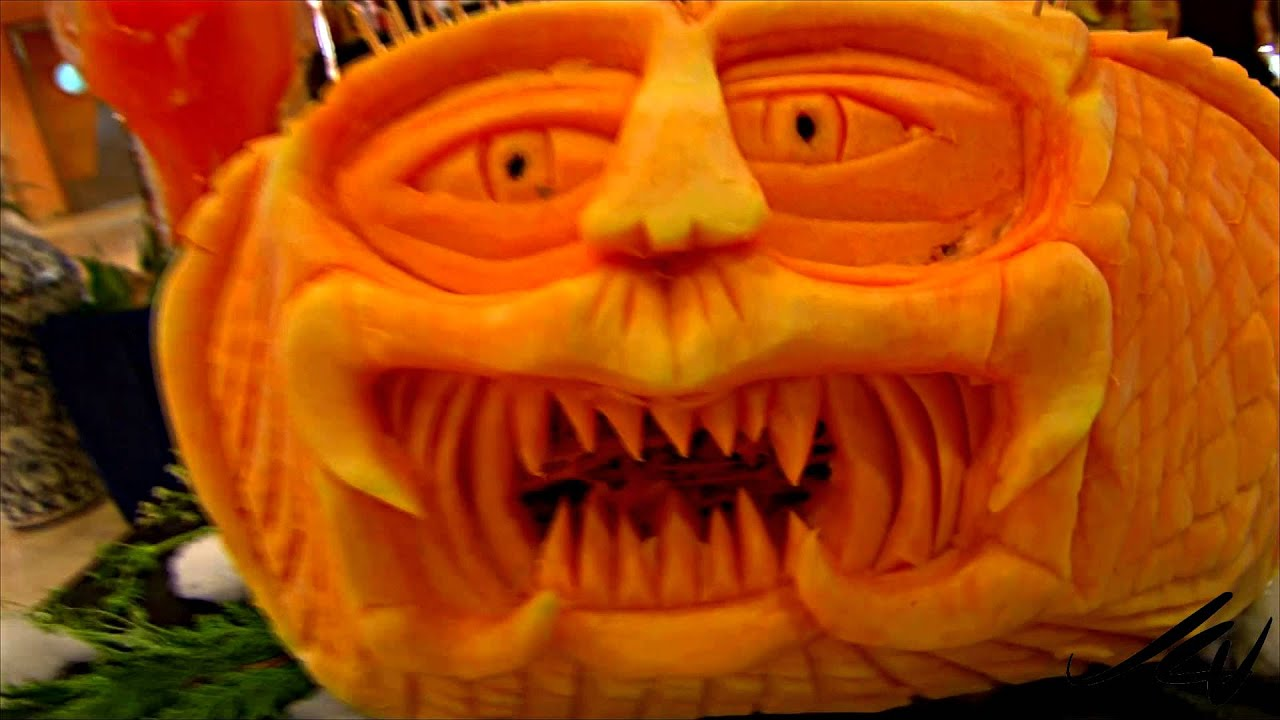 Creative Halloween Pumpkin Carving Ideas Barcelo Maya Beach in