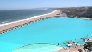 The largest pool in the world for guinness world records in Algarrobo to Cile