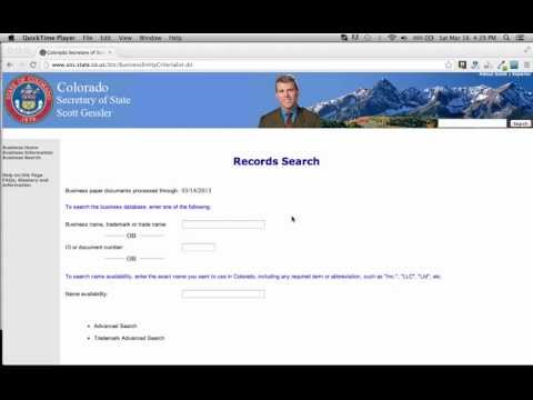 Colorado Secretary of State Business Search