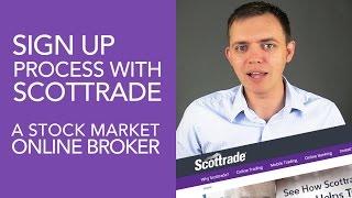 Scottrade Online Broker Review - Sign Up Process Overview (Part 1)