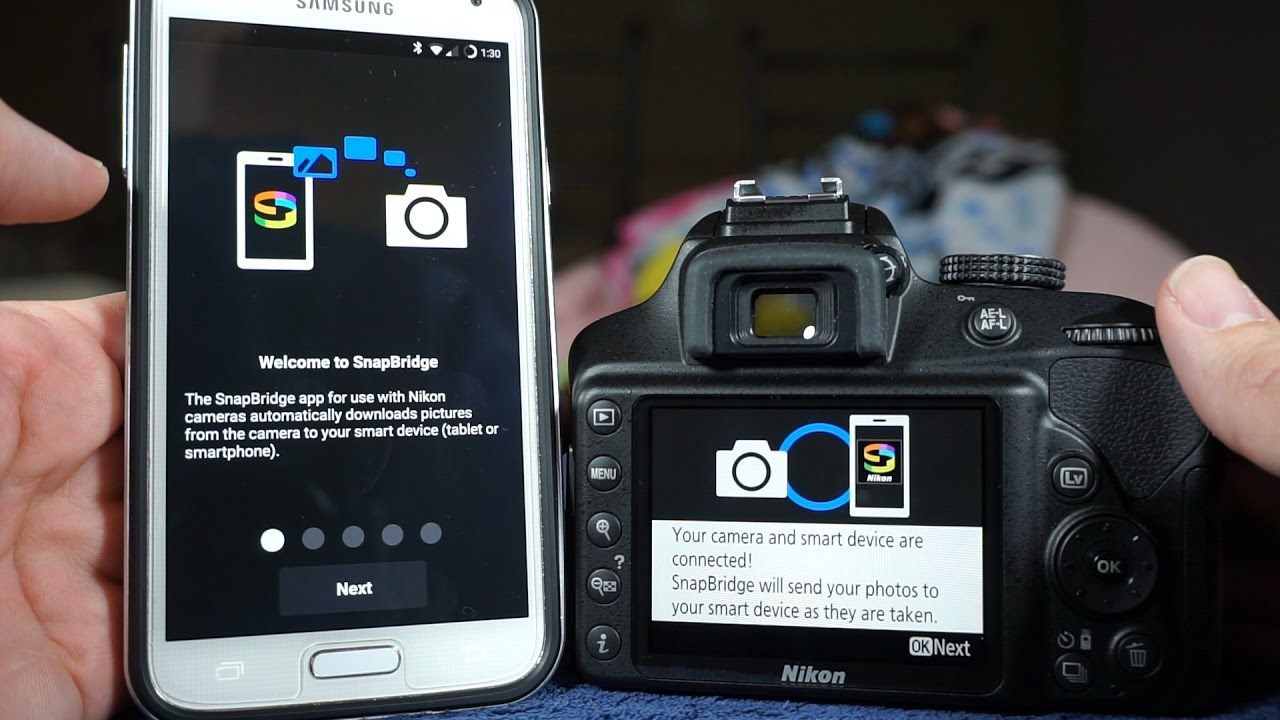 how to use snapbridge nikon software to transfer images via