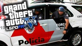 GTA V VIDA POLICIAL - TIOZÃO DE 19 ANOS E PERSEGUIÇÃO AO TAXI ROUBADO PMESP | Ep 44 GTA5 MODS LSPD