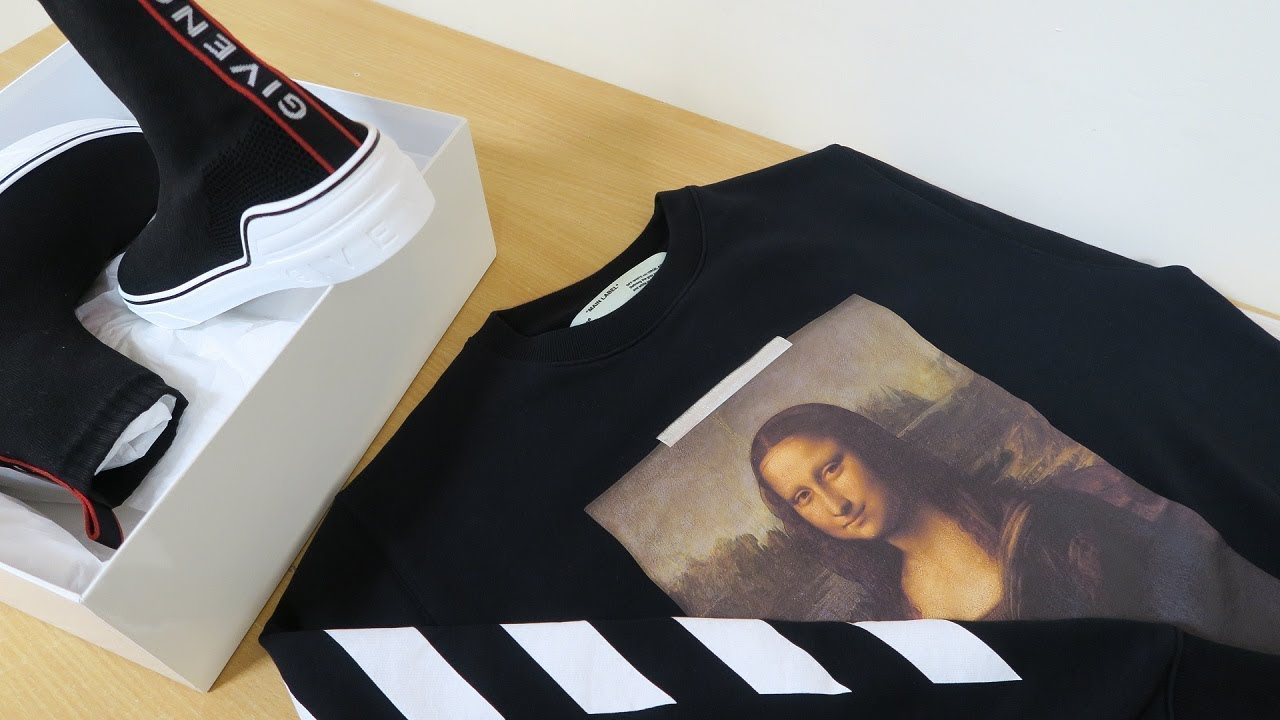 Givenchy George V Sneakers & Off White Mona Lisa Sweatshirt Fit Review & Unboxing