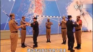 卡塔尔学中国阅兵,口令用中文配解放军进行曲