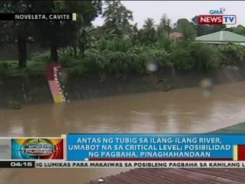 Antas ng tubig sa ilang-ilang river sa Noveleta, Cavite, umabot na sa critical level