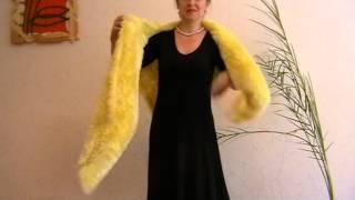 Вязание Шаль желтая травка Вязание на спицах