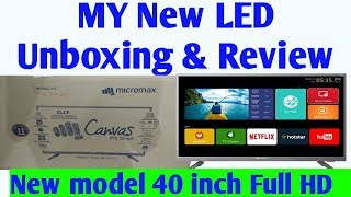 Micromax 40 canvas 3 Smart Full HD LED TV