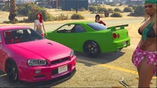GTA 5 FiveM Online - We Found These Girls with R34's .... w/Crew LOL | SLAPTrain