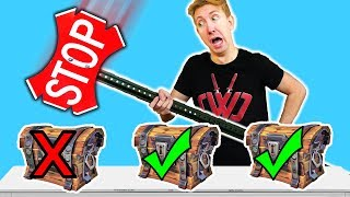 5 Fortnite Battle Royale Gadgets in REAL LIFE vs Ninja Mystery Box Challenge!