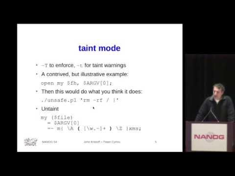 Tutorial: Intermediate Perl Scripting for Network Operators