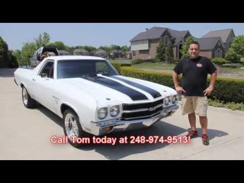 1970 Chevy El Camino Big Block 4 Speed Classic Muscle Car For Sale In MI Vanguard Motor Sales