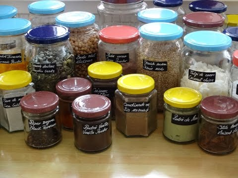 How to Do It Yourself Projects - How to RecycleReused Glass Jars How to organized your spices